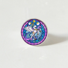 Cartoon My Little Horse Baoli Poni Series Cute Magic Rainbow Hors Glass ring Girl Birthday Gift