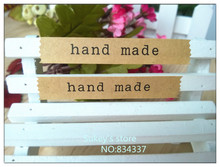 ФОТО 800/lot Whole Kraft paper  decorative stickers hand madesealing tag baking package cake box decoration