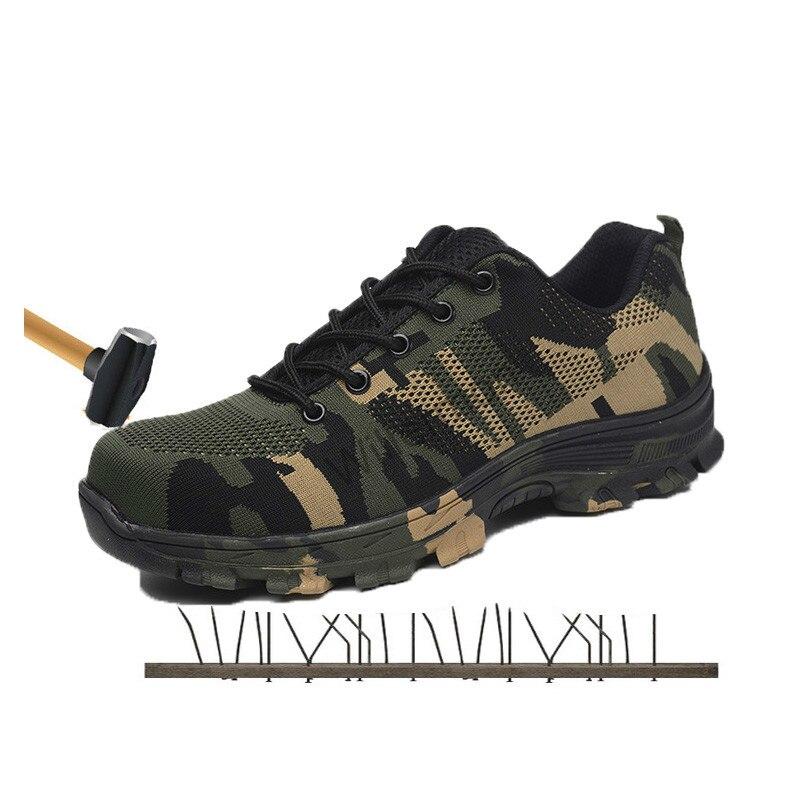 2018 Neue Männer Plus Größe Im Freien Stahl Kappe Cap Militärische Arbeit & Sicherheit Stiefel Schuhe Männer Camouflage Armee Pannensichere Stiefel Xx-254