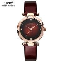 IBSO Brand Luxury Women Wrist Watches Leather Strap Montre Femme 2018 Fashion Ladies Quartz Watch Women Relogio Feminino Clock