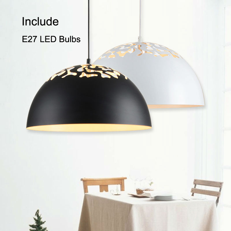modern led pendant lights Pendant lamp for Restaurant suspension luminaire Light Fixture with E27 5W LED bulbs Black White modern pendant lights for children kids room bedroom lighting suspension luminaire basketball e27 bulb lamp led pendant light
