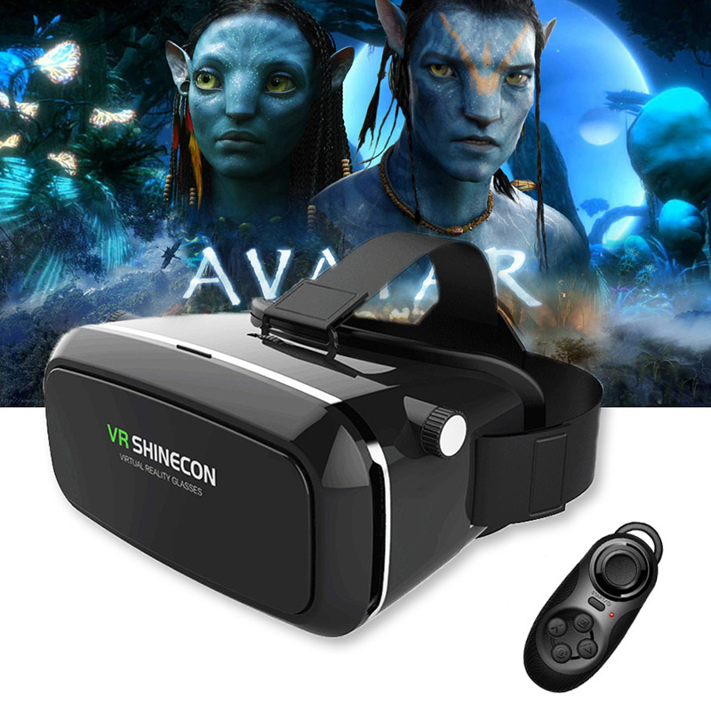 Original VR Shinecon Pro Virtual Reality 3D Glasses VR Google Cardboard Headset Box Head Mount for Smartphone 4-6' Mobile Phone original xiaomi vr virtual reality 3d glasses mi vr box 3d virtual reality glasses cardboard mi vr for 4 7 5 7 inch smart phone