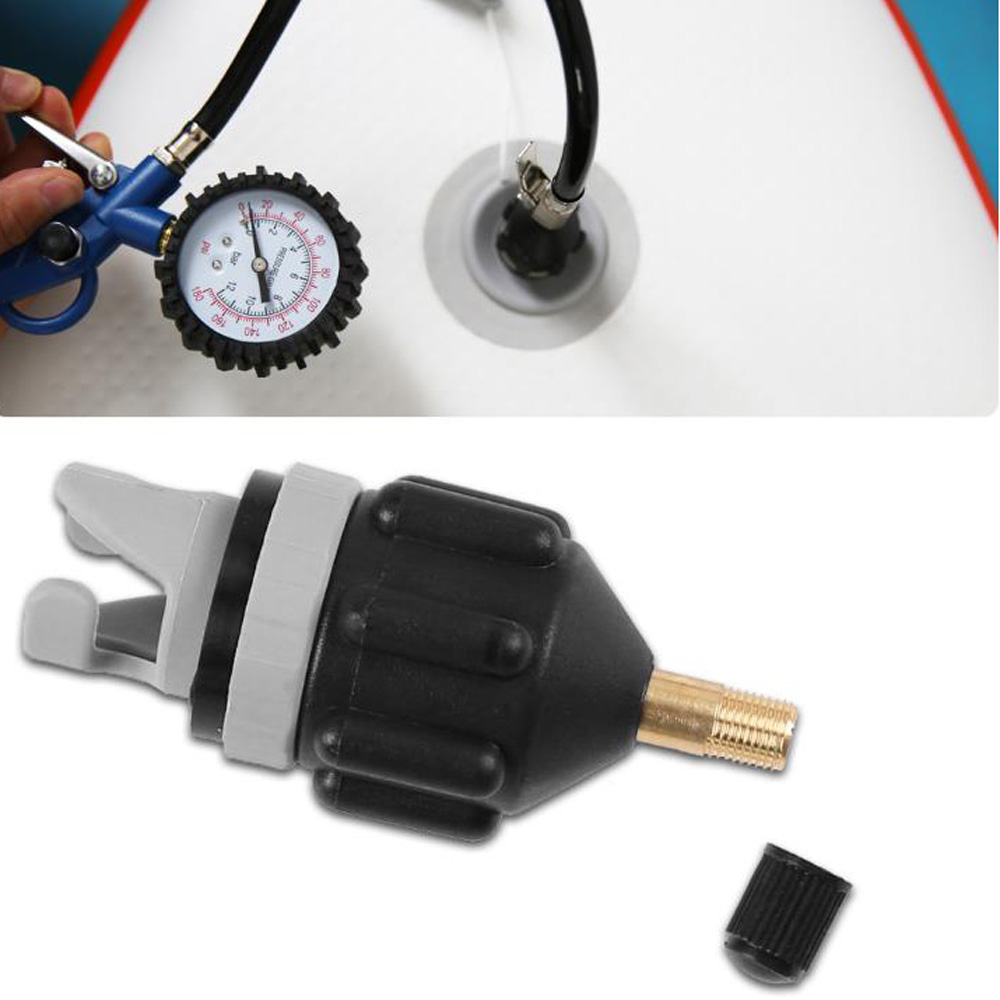 Kanu Kajak Pumpe Ventil Adapter SUP Standup Paddle Board Luft Ventil Luft Kompressor Adapter Zubehör