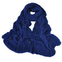 2015 New Arrival Solid Color Warmer Design Mohair Knitted Fashion Scarf Super Soft Women Men Unisex