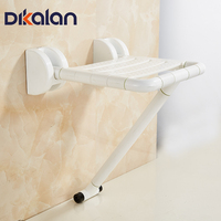 Dikalan Bathroom Folding Chair Wall Shower Chair Strong Antislip Toilet For Elderly Disabled Barrier Free Handicapped Seat Stool
