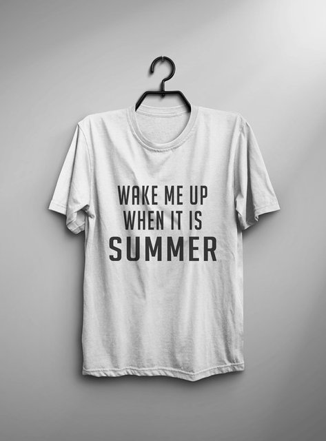Wake Me Up When It Is Summer Funny TShirt Travel Adventure Shirt For Teens Tumblr Graphic
