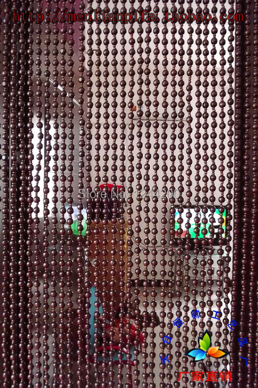 wood beaded door curtain - Window Curtains & Drapes