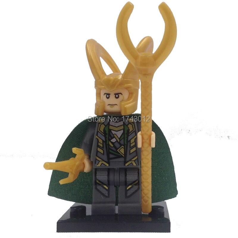 <font><b>Wholesale</b></font> XINH 010 <font><b>Marvel</b></font> <font><b>Super</b></font> <font><b>Heroes</b></font> The <font><b>Avengers</b></font> <font><b>Minifigures</b></font> Single 50pcs/lot Loki Building Blocks Model Toys For Children