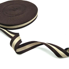 10mm 15mm 20mm wide Coffee Khaki  Cotton Polyester Webbing Tape Bag Straps Belt Sling Seat belt webbing Strong handle deco