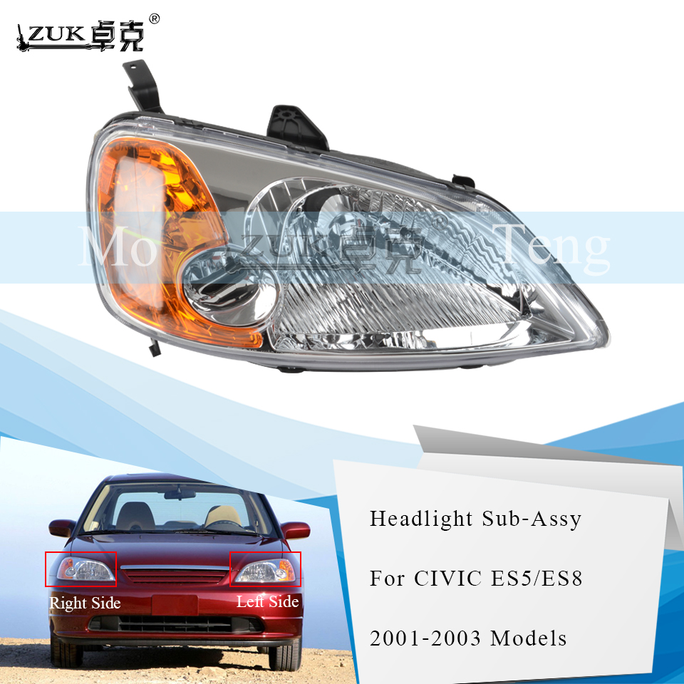 ZUK Front Headlight Headlamp Head Light Head Lamp For HONDA For CIVIC 2001 2002 2003 ES5