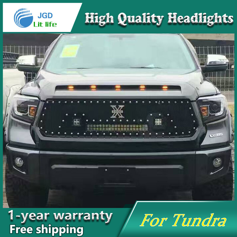high quality Car styling case for Toyota Tundra 2014 Headlights LED Headlight DRL Lens Double Beam HID Xenon