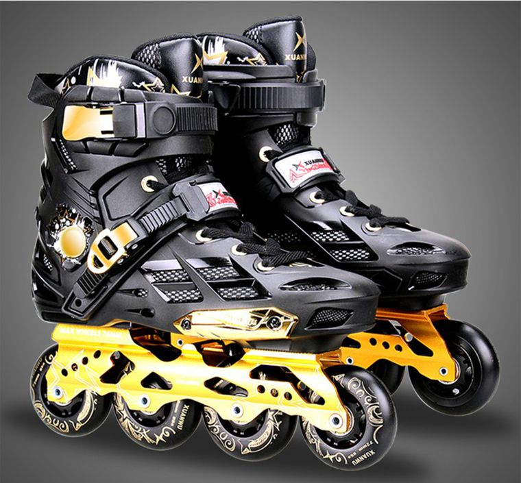 High quality!XW New Adult Professional Inline Skates Roller Skating Shoes Unisex Durable Slalom/Braking/Hockey Patines Rollerbla цена 2017