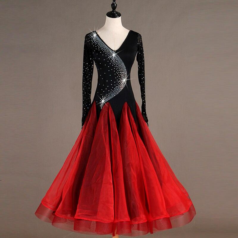 2019 New Costume Sale Ballroom Dance Skirts Newest Design Woman Modern Waltz Tango Dress/standard Competition Dress  MQ113