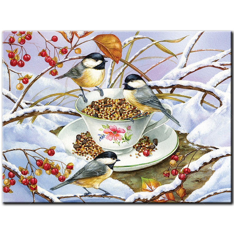 5D Diamond Embroidery birds DIY Diamond Painting Cross Stitch Chickadee Tea Full Square Pictures Of Rhinestones Mosaic Decor5D Diamond Embroidery birds DIY Diamond Painting Cross Stitch Chickadee Tea Full Square Pictures Of Rhinestones Mosaic Decor