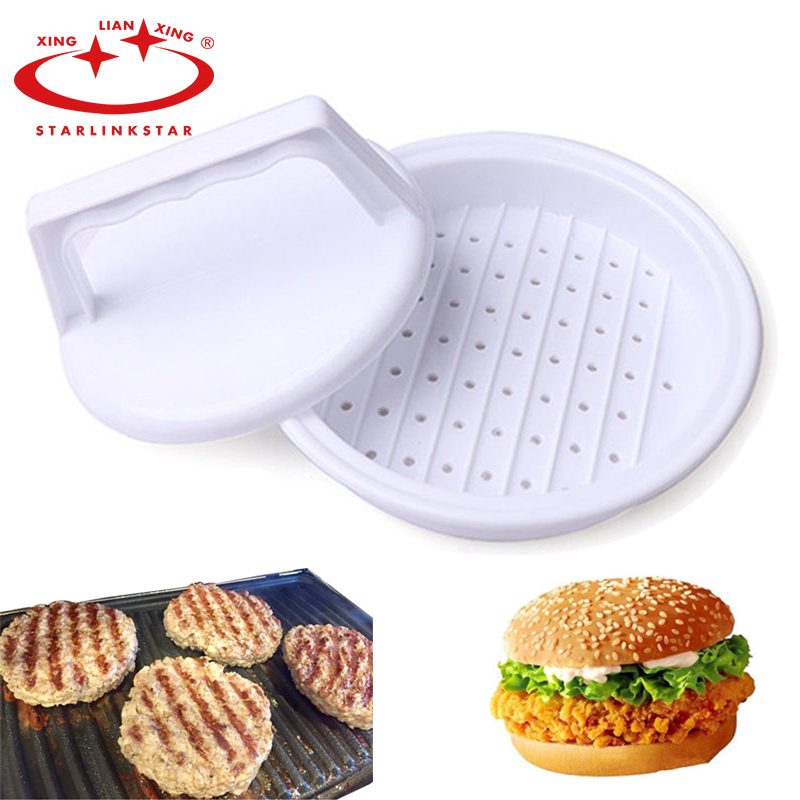 1Pc Plastic Hamburger Meatloaf Mold Hamburger Presses Hamburger Presses Patties Kitchen Gadgets tools image