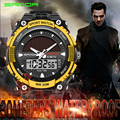 SANDA Solar Watch  Waterproof Outdoor Casual Wristwatches Men Sports Digital LED Russian Military Army Watches Relogio Masculino