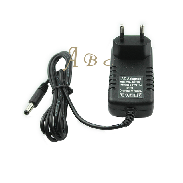 100-240V to AC DC 12V 2A AC/DC Switching Power Supply Converter Adapter EU US Plug for LED Strip CCTV Tablet TV LCD Driver Board