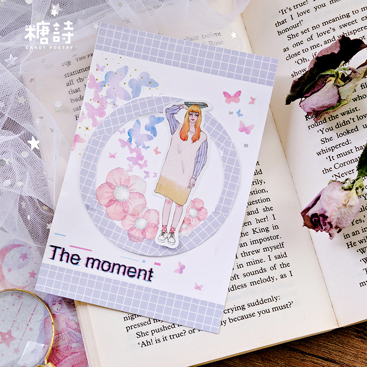 10pcs set Creative Dream Travel Stickers Cute Flowers Bullet Journal Stickers Scrapbooking Diy Diary Decoration Material Escolar in Stationery Stickers from Office School Supplies