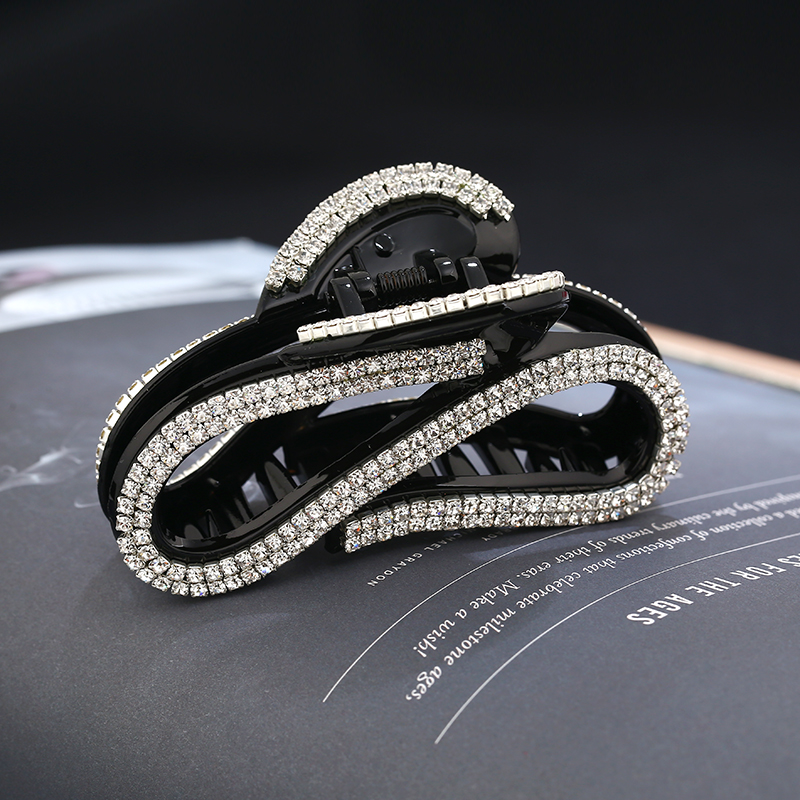 Fashion Designed Acrylicl Hair Jewelry Rhinestone Women Hair Claw Crystal Hair Accessories
