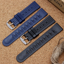 20 22 мм силиконовый гелевый ремешок для часов DIY для TAG_Heuer WAZ2113 ремешок для часов перфорированные резиновые силиконовые ремни водонепроницаемый мужской браслет