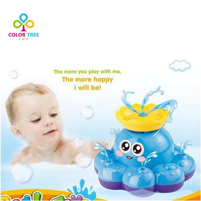 Brinquedos Polvo Pulverizador Automático Elétrico Crianças Brinquedos de Banho de Natação do bebê Presentes de Natal de Aniversário Para Crianças