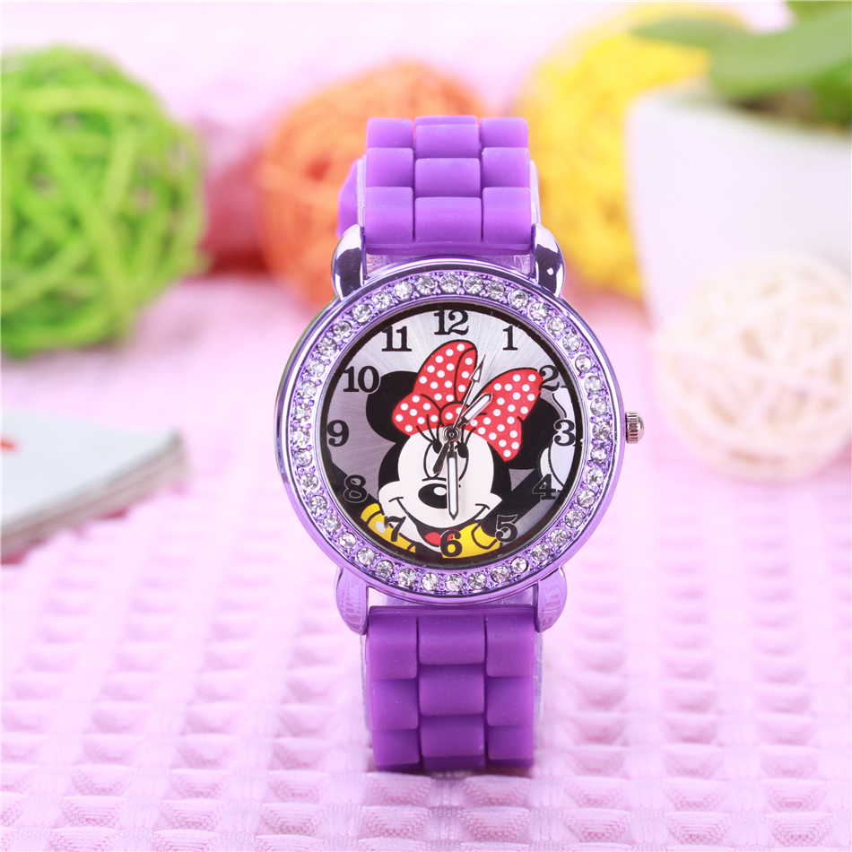 Cartoon Mickey Minnie Mouse Children font b Watch b font Fashion Silicone Kids font b Watches