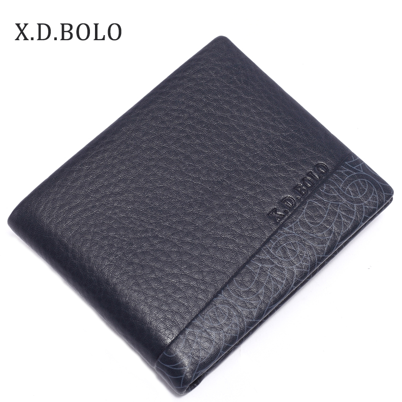 Mens Wallet Travel-Bifold Fashion-Style Genuine-Leather Luxury Soft XDBOLO Excellent