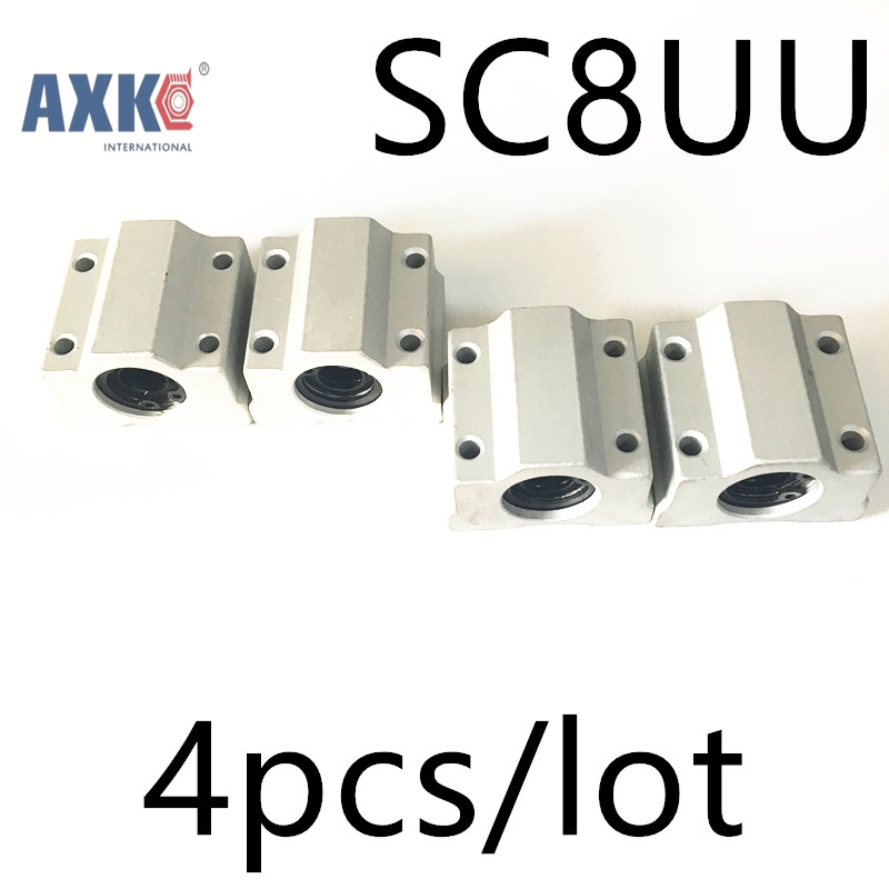 Linear Rail Axk Cnc Router Parts High Quality 4pcs/lot Sc8uu Scs8uu 8mm Linear Ball Bearing Block With Lm8uu Bush, PillowLinear Rail Axk Cnc Router Parts High Quality 4pcs/lot Sc8uu Scs8uu 8mm Linear Ball Bearing Block With Lm8uu Bush, Pillow