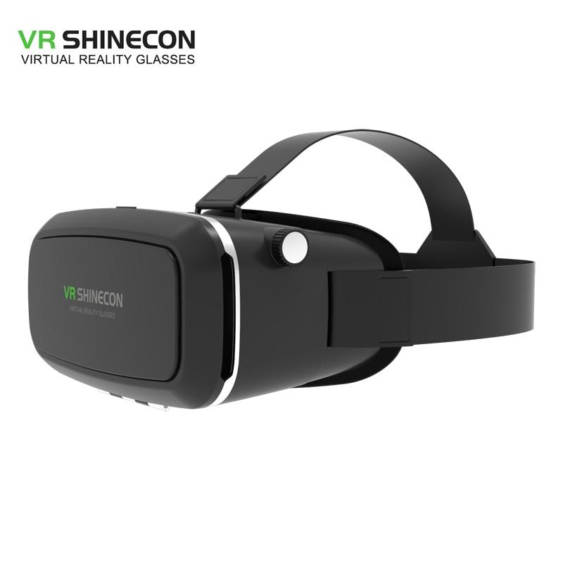 Купить VR Shinecon оригинальный Pro виртуальной реальности 3D очки VR  Google Cardboard гарнитуры поле головы крепление для смартфонов 4-6