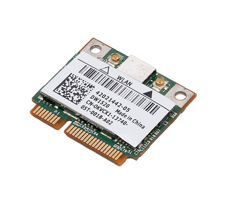 NEW <font><b>DW1520</b></font> Dual Band Wireless AGN Half MINI PCI-E BCM943224HMS WIFI Card For DELL image