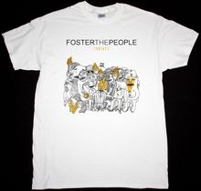 лучшая цена FOSTER THE PEOPLE TORCHES INDIE POP ALTERNATIVE THE KOOKS NEW WHITE T-SHIRT Print T Shirt Men Hot Top Tee Punk Tops  Free