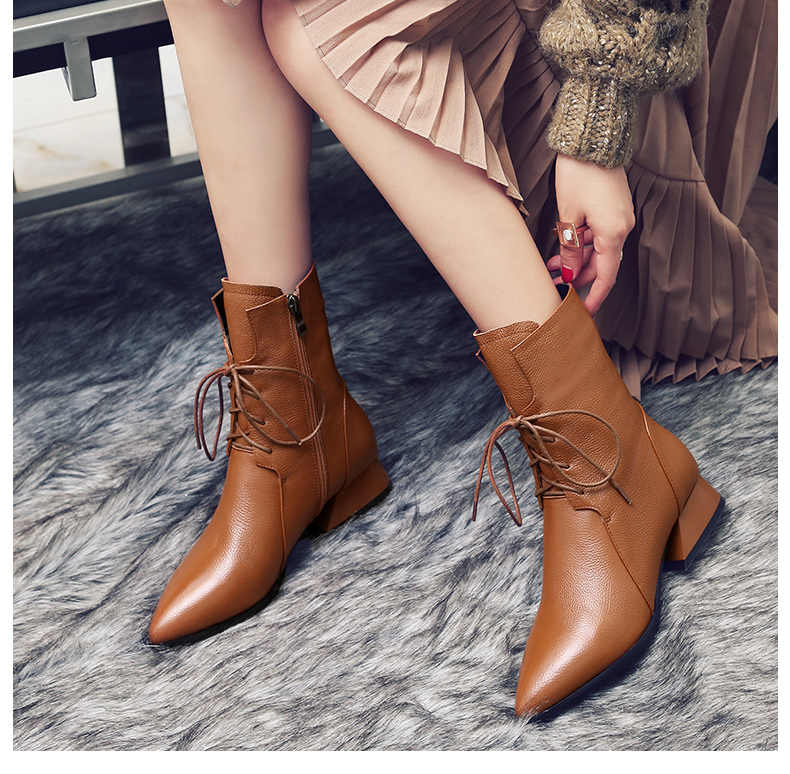 Красивые причудливые женские Ботинки на каблуке