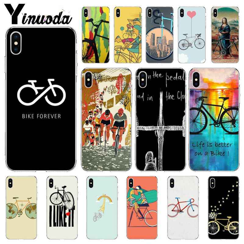 Yinuoda BIKE CYCLING Newly Arrived Transparent Cell Phone Case for Apple iPhone 8 7 6 6S Plus X XS MAX 5 5S SE XR Mobile Cases