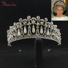 Классическая принцесса Диана Корона Хрустальный жемчуг свадебная