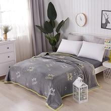 Модная теплая плюшевая мягкая искусственная норка, плотная фланель, Флисовое одеяло кидает Твин/Полный/королева/король размер кровать/диван/воздушная крышка корона серый
