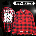2017 New hip hop fashion pyrex off white 13 virgil abloh long sleeved high quality plaid dress shirt hip hop shirt