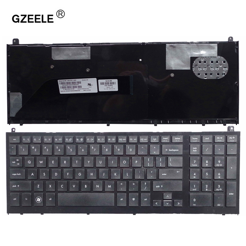 GZEELE New English Keyboard For HP Probook 4520 4520S 4525S 4525 With Black Frame US Laptop Keyboard REPLACE US