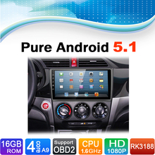 Pure Android 5.1.1 System Car DVD Player Autoradio Auto Radio Car Media Stereo for Honda Crider 2014-2015