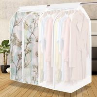 Large Capacity Cloth Hanging Suit Coat Dust Cover Protector Wardrobe Storage Bag Household Supplies