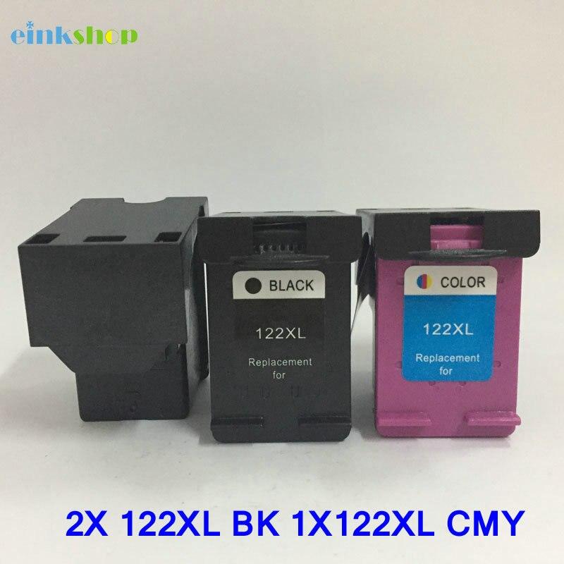 Einkshop compatibele inktpatroon vervangen voor hp 122 xl 122xl voor - Office-elektronica