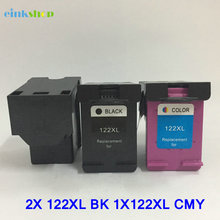 3Pcs Cartridge For hp 122xl Ink Cartridge for HP 122 For HP Deskjet 1510 1050A 2050A 3050A 1000 2000 3000 2050 3050 Printer