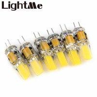 Alta Calidad 6 unids 6 W Dimmable G4 Lámparas LED DC AC 12 V COB Bombilla Lámpara de Luz Blanca de Ahorro de Energía Bombillas de Luz LED de Cuentas 1636293