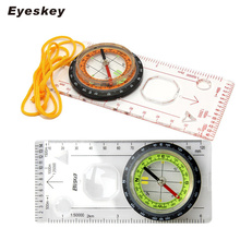 Eyeskey Outdoor Camping Directional Cross-country Race Hiking Special Compass Baseplate Ruler Map Scale Compass Night bussola(China)