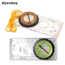Eyeskey Outdoor Camping kierunkowy wyścig biegowy turystyka specjalna kompas płyta podstawowa linijka mapa skala kompas noc bussola tanie tanio Wiszące pierścień typu Plastic DC45-5C 4 9inx2 4in Wskazując przewodnik HIKE Wskaźnik Orange Green 51 8in H fluorescence on the dial