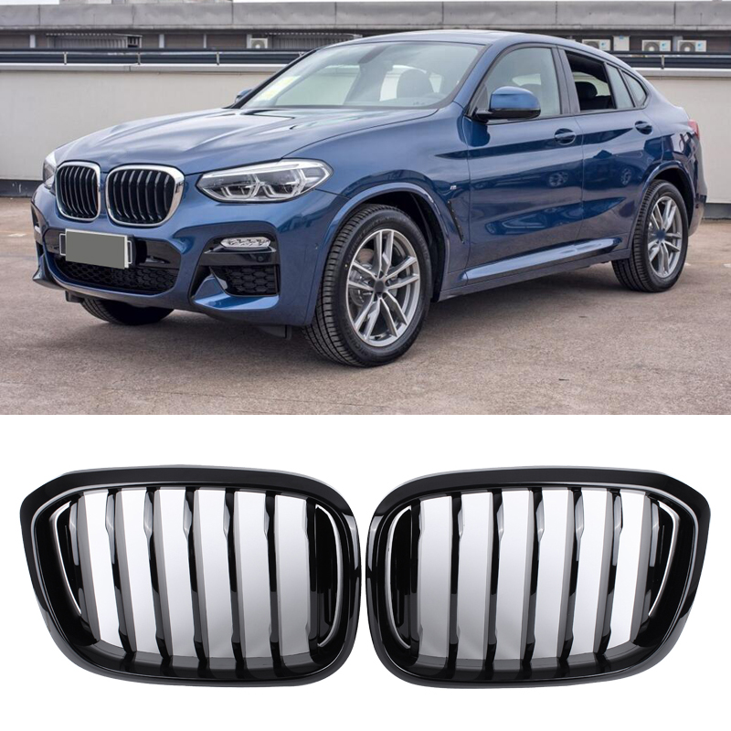 Single line Double line Matte Black Bright black Car Racing Grille For BMW X3 G01 X4