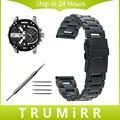 Venda de Reloj con Hebilla de Seguridad de Acero inoxidable para Los Hombres Diesel las mujeres de la Muñeca Correa de Pulsera del Acoplamiento Negro Oro Plata 20mm 22mm 24mm