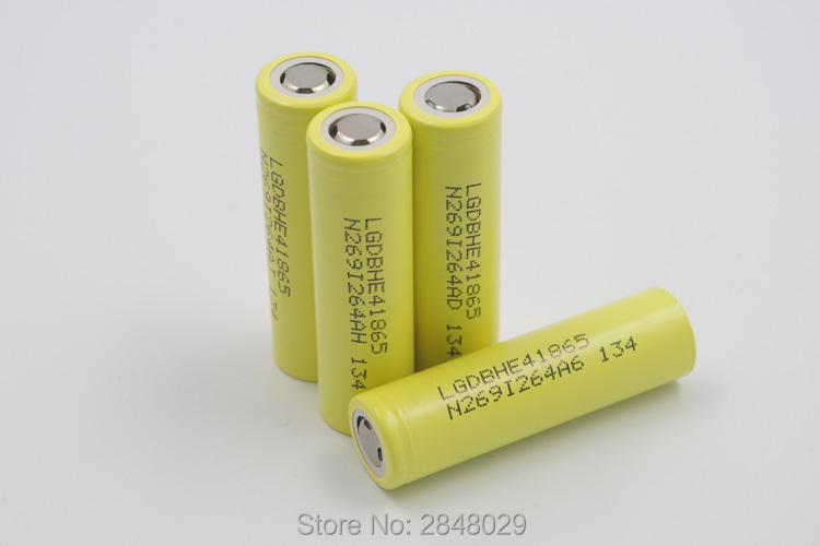 5 PIECES. New For LG DBHE41865 2500 mAh Lithium Battery 18650 3.7V HE4 20A Battery Discharge Battery аккумулятор 18650 lg hg2 3000 mah 20a