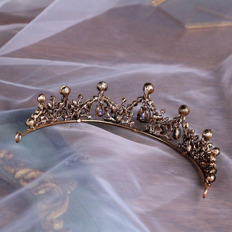 Woodqiqi Baroque Retro Hair Accesories Tiara Coroa De Noiva Hair