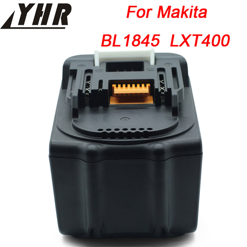 YHR 4500mAh Laptop Battery Replacement For Makita BL1845 194205-3 194309-1 BL1830 LXT400 Rechargeable Li-ion 18V bl1840 electric drill battery 18v 4000mah for makita 194205 3 194309 1 bl1845 bl1830 bl1445 bl1460 18v 4 0ah li ion battery