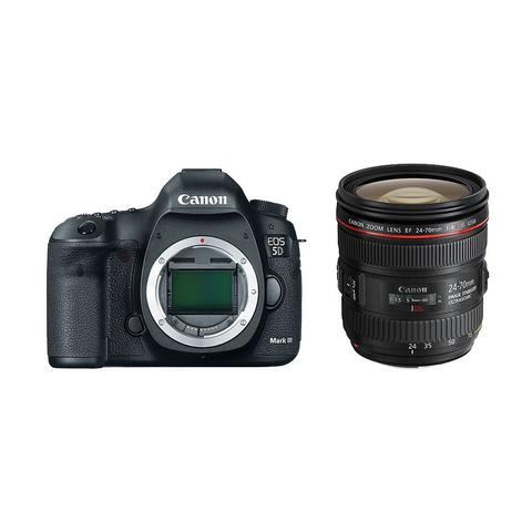Canon EOS 5D Mark III DSLR Camera Body and Canon EF 24-70mm f/4 L IS USM Lens Kit
